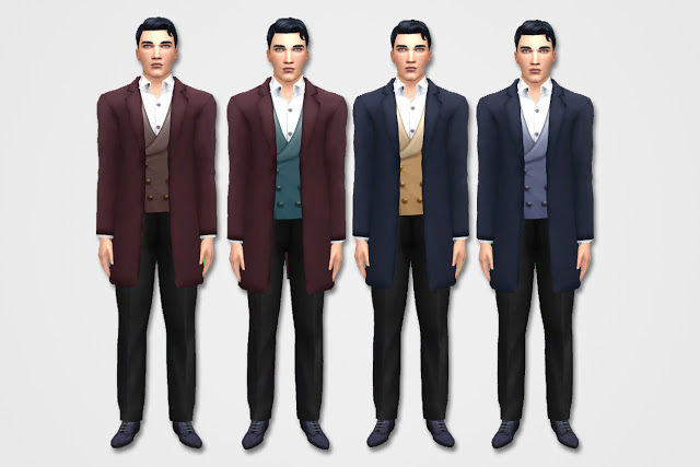 Mens Casual Edwardian Suit at Historical Sims Life image 10414 Sims 4 Updates
