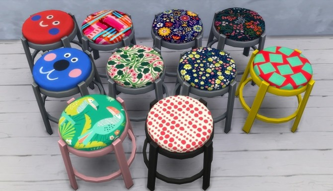 16 recolors of gatochwegchristel's stool edit at Budgie2budgie image 1044 670x384 Sims 4 Updates