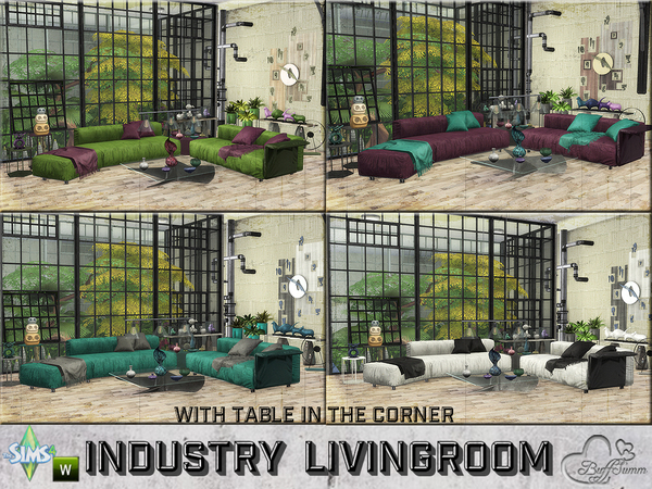 Industry livingroom by BuffSumm at TSR image 1051 Sims 4 Updates