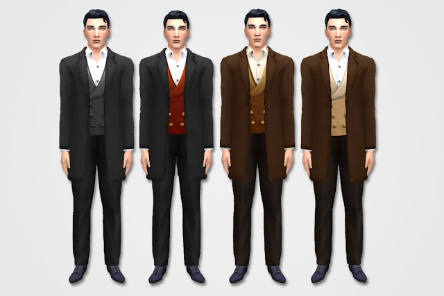 Mens Casual Edwardian Suit at Historical Sims Life image 10514 Sims 4 Updates