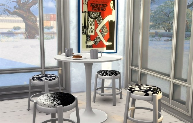 16 recolors of gatochwegchristel's stool edit at Budgie2budgie image 1064 670x429 Sims 4 Updates