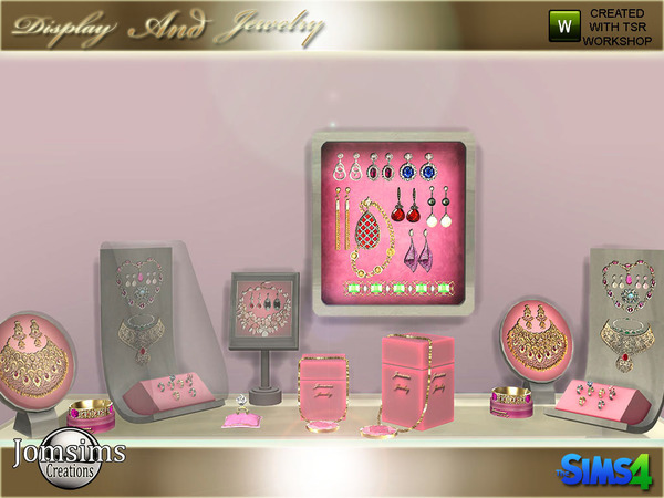 Display and jewelry set by jomsims at TSR image 1080 Sims 4 Updates
