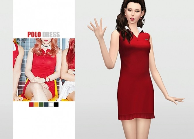 Sims 4 Polo Dress at Waekey