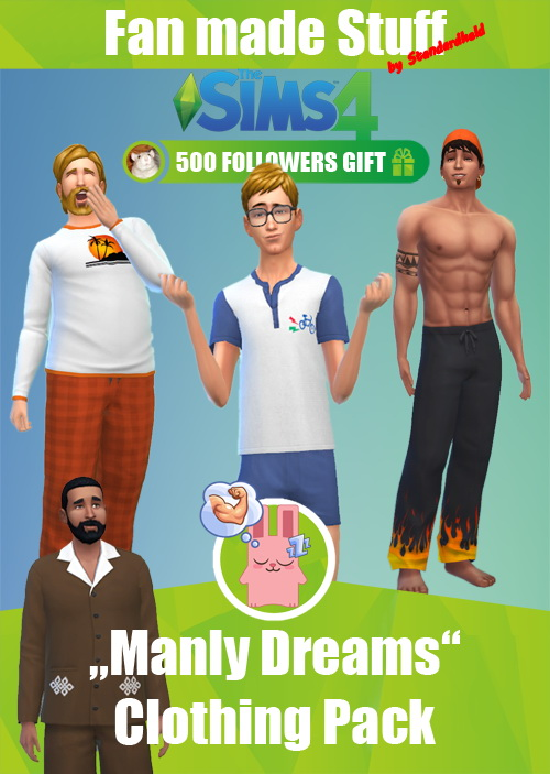 Manly Dreams Clothing pack by Standardheld at SimsWorkshop image 10816 Sims 4 Updates