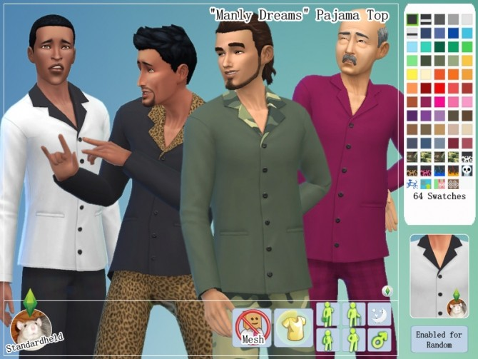 Manly Dreams Clothing pack by Standardheld at SimsWorkshop image 10915 670x503 Sims 4 Updates