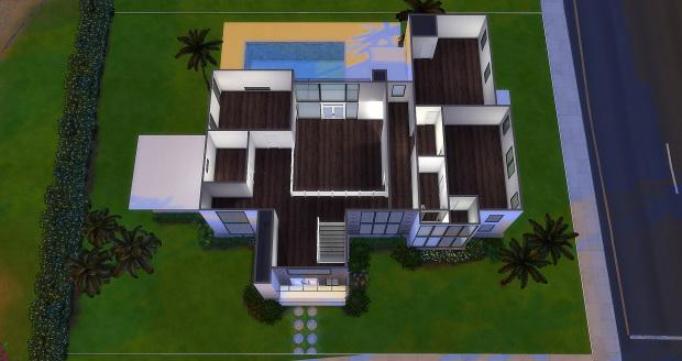 Sims 4 Modern House Build at AymiasSims