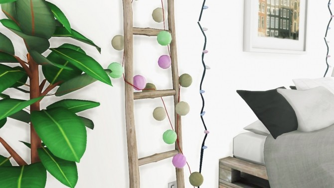Sims 4 Garland and String Lights recolors and fixes of lindseyxsims conversions at MXIMS