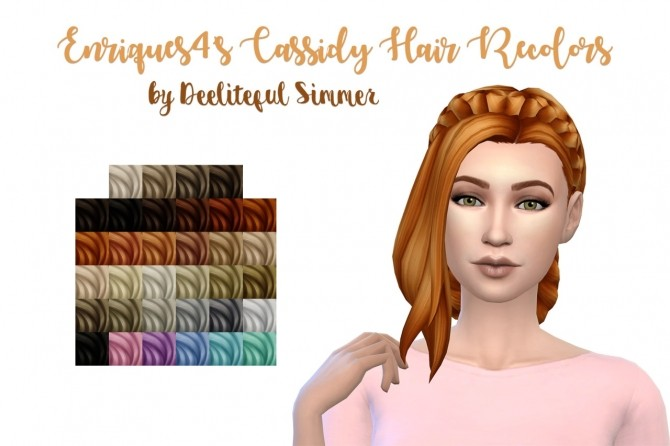 Enriques4s Cassidy hair recolors at Deeliteful Simmer image 11017 670x446 Sims 4 Updates