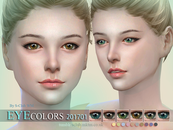 Sims 4 Eyecolors 201701 by S Club WM at TSR