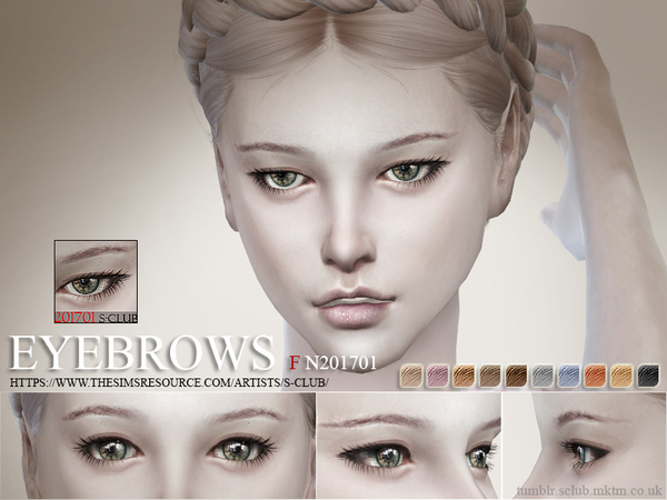 Eyebrows F 201701 by S Club WM at TSR image 1106 Sims 4 Updates