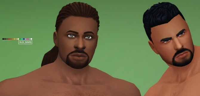 Sims 4 Claymore Facial Hair by Xld Sims at SimsWorkshop