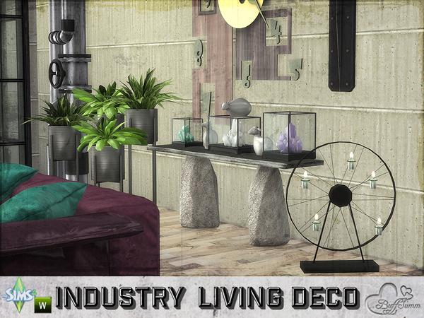 Sims 4 Livingroom Industry Decor Set by BuffSumm at TSR