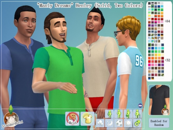 Manly Dreams Clothing pack by Standardheld at SimsWorkshop image 11121 670x503 Sims 4 Updates