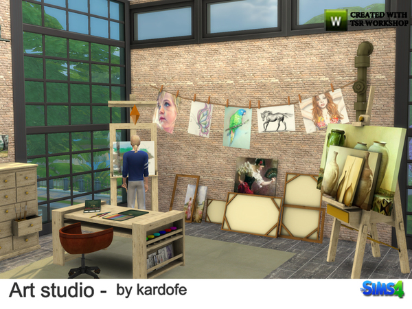 Art studio by kardofe at TSR image 1114 Sims 4 Updates