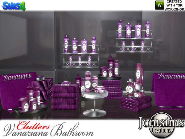 Vanaziana bathroom clutters by jomsims at TSR image 1116 Sims 4 Updates