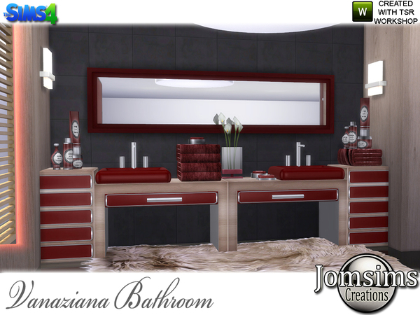 Vanaziana bathroom by jomsims at TSR image 1117 Sims 4 Updates