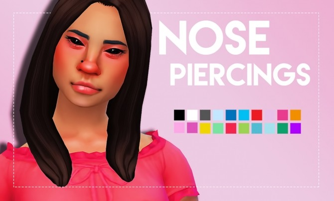 Nose Piercings by Weepingsimmer at SimsWorkshop image 112 670x404 Sims 4 Updates