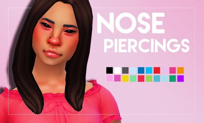 Sims 4 Nose Piercings by Weepingsimmer at SimsWorkshop