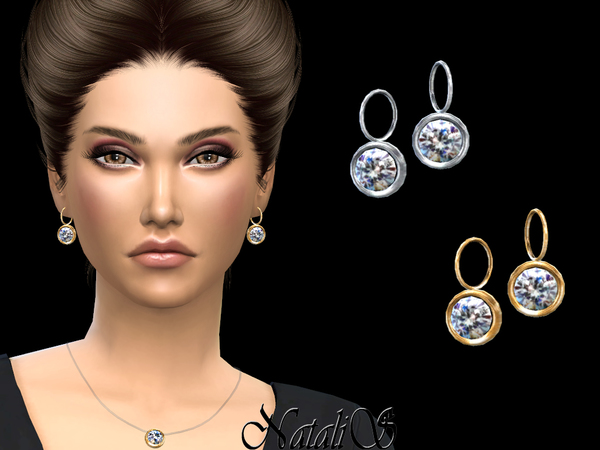 Crystal pendant earrings by NataliS at TSR image 1140 Sims 4 Updates
