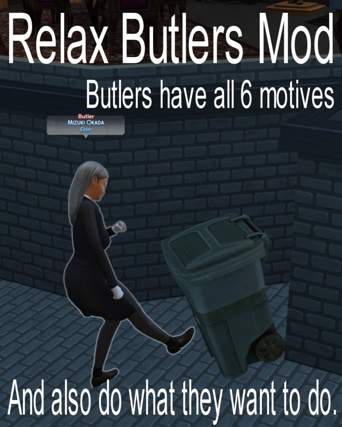 Relax Butlers Mod by itasan2 at Mod The Sims image 1143 670x838 Sims 4 Updates