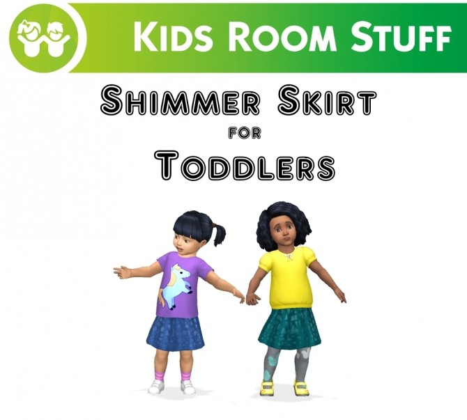 Sims 4 Shimmer Skirt for Toddlers by VentusMatt at Mod The Sims