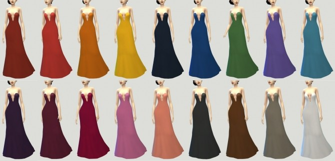 Crescendo and Fortissimo Gowns at Pickypikachu image 11814 670x323 Sims 4 Updates