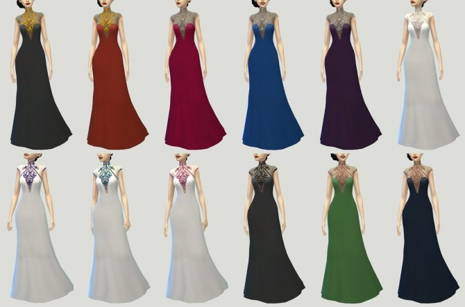 Crescendo and Fortissimo Gowns at Pickypikachu image 11914 670x443 Sims 4 Updates