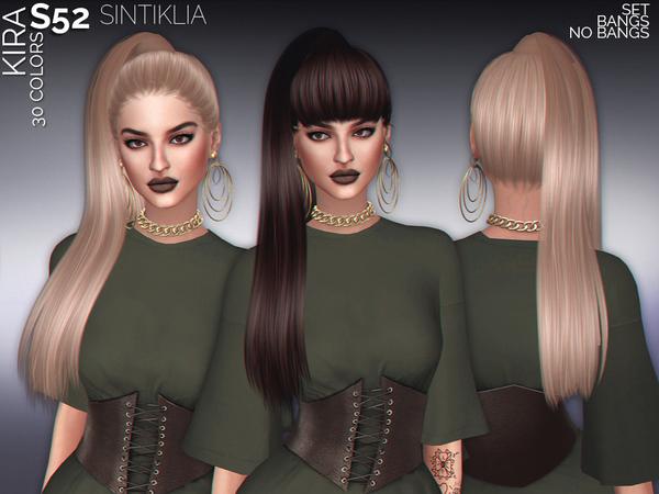 Sims 4 Hair set s52 Kira by Sintiklia at TSR