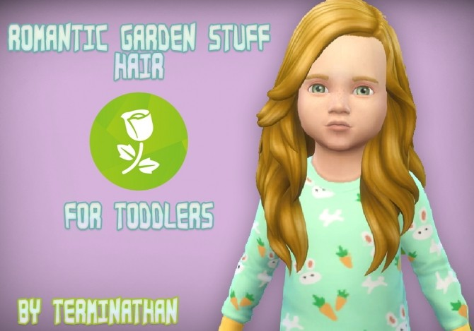 Sims 4 Romantic Garden Stuff Hair For Toddlers by Terminathan at Mod The Sims