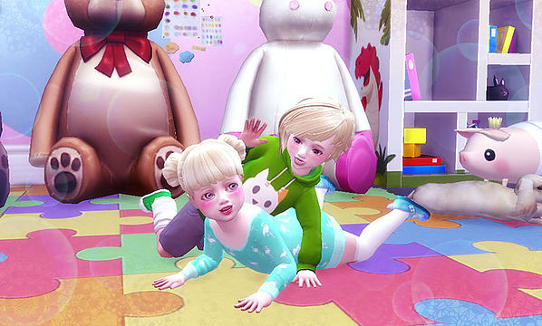 Twins toddler pose at A luckyday image 12116 Sims 4 Updates