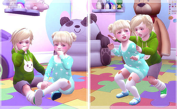 Twins toddler pose at A luckyday image 12212 Sims 4 Updates