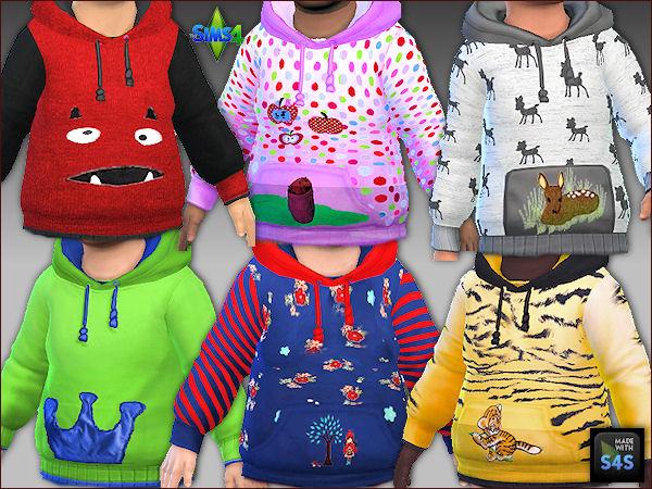 Sims 4 6 sweatshirts and pants f0r toddlers at Arte Della Vita