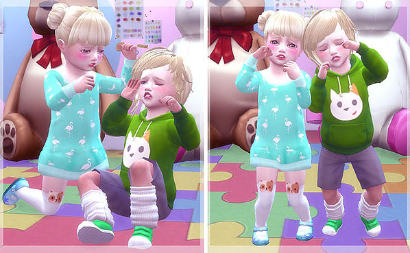 Twins toddler pose at A luckyday image 12411 Sims 4 Updates