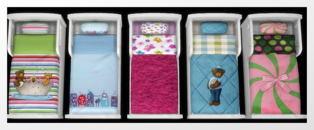 Sims 4 Bed for kids by Oldbox at All 4 Sims
