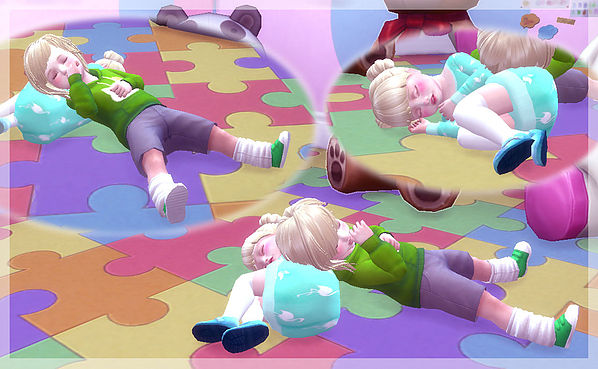Twins toddler pose at A luckyday image 12511 Sims 4 Updates