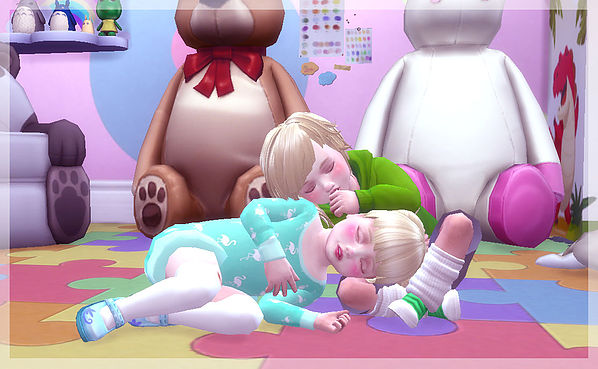 Twins toddler pose at A luckyday image 12611 Sims 4 Updates