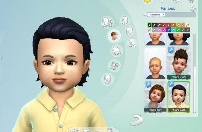 Sims 4 Silk Wavy hair for Toddlers at My Stuff