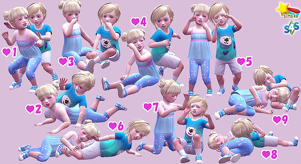 Twins toddler pose at A luckyday image 12710 Sims 4 Updates
