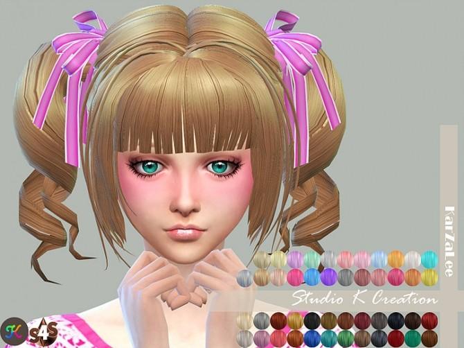 Sims 4 Animate hair 23 momo renewal version at Studio K Creation