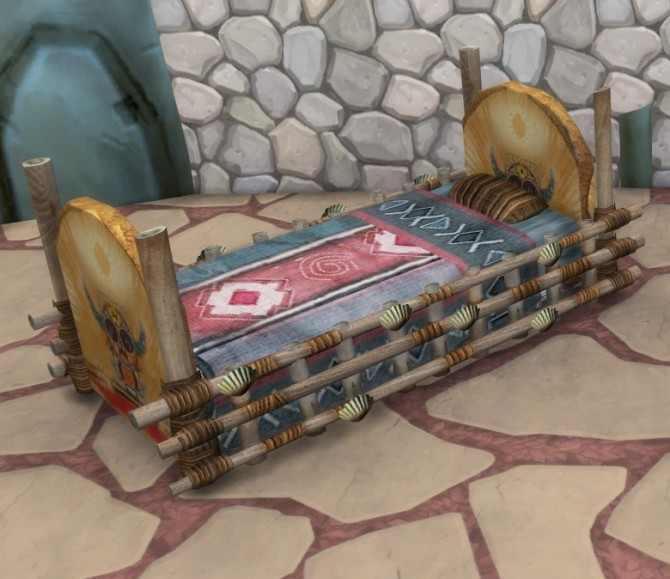 Sims 4 Castaway Stories Crib As a Toddler Bed by BigUglyHag at SimsWorkshop