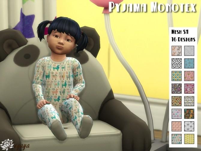 Sims 4 Pyjama Monotex by Fuyaya at Sims Artists