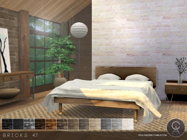 Bricks Wall 47 By Pralinesims At Tsr 187 Sims 4 Updates
