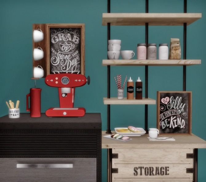 Sims 4 AnYe Coffee Set (S2 to S4) at Dream Team Sims