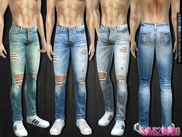 Sims 4 292 Ripped Jeans by sims2fanbg at TSR