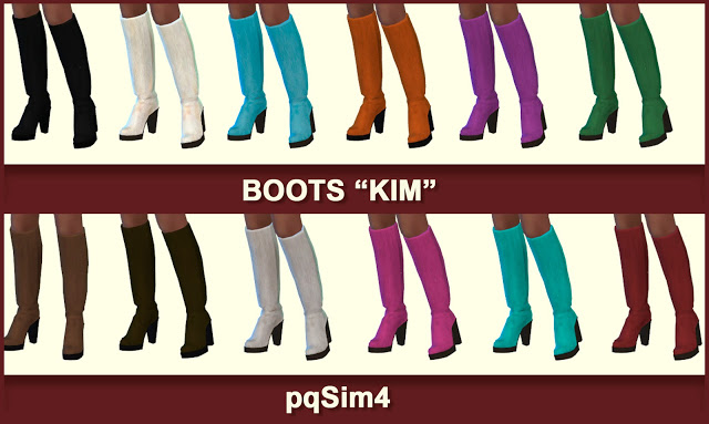 Sims 4 Kim dress and boots at pqSims4