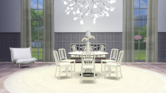 Sims 4 111 Navy Chair at Meinkatz Creations