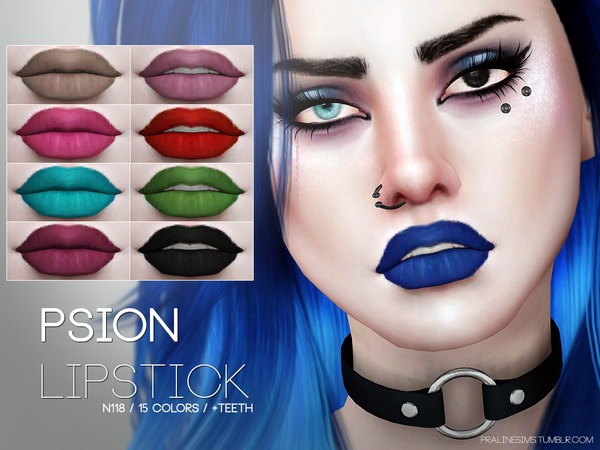 Psion Lipstick N118 by Pralinesims at TSR image 1350 Sims 4 Updates