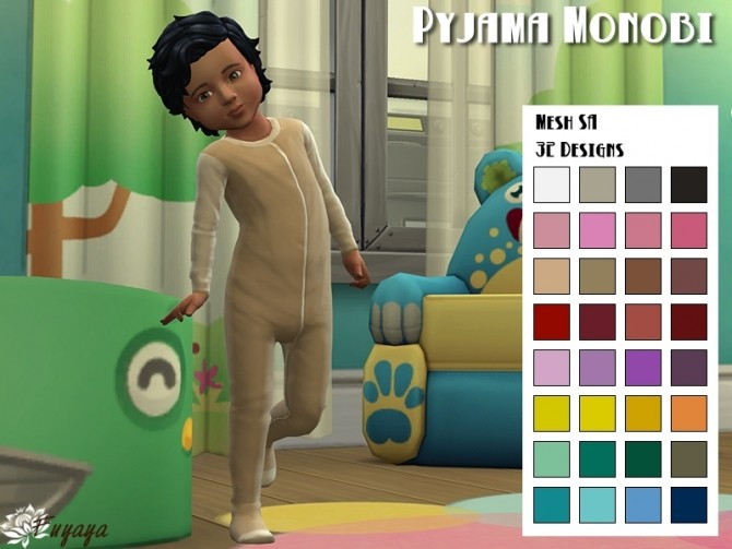 Pyjama monobi by fuyaya at sims artists sims 4 updates for Sims 4 meuble a telecharger