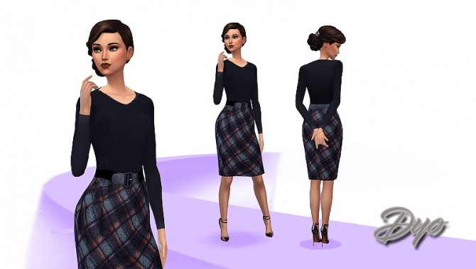 Sims 4 Scottish dress by Dyokab at Les Sims4