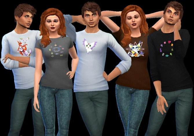 Sims 4 Digimon long sleeves at AuriSims